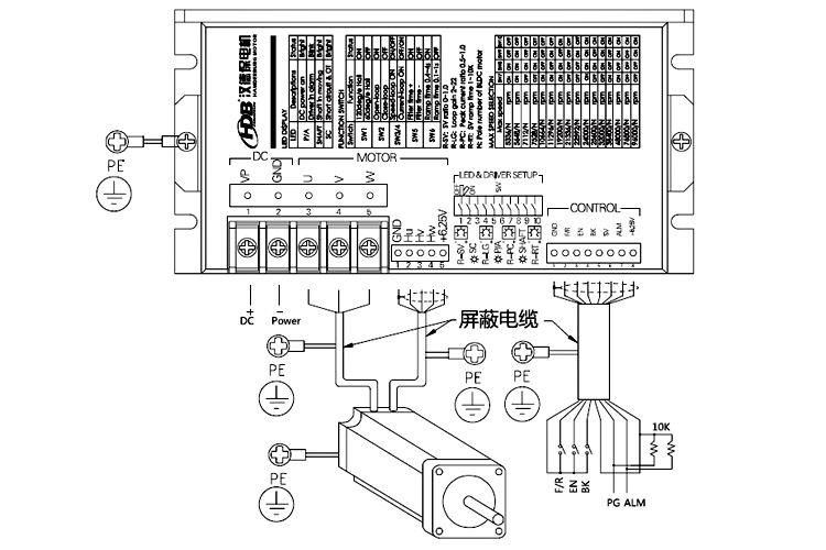 参数可设置型大电流直流无刷电机驱动器