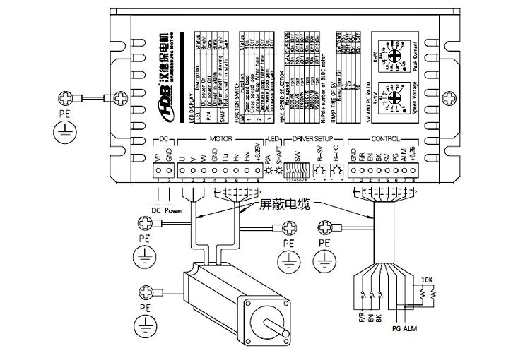 n系列参数可设置直流无刷电机驱动器